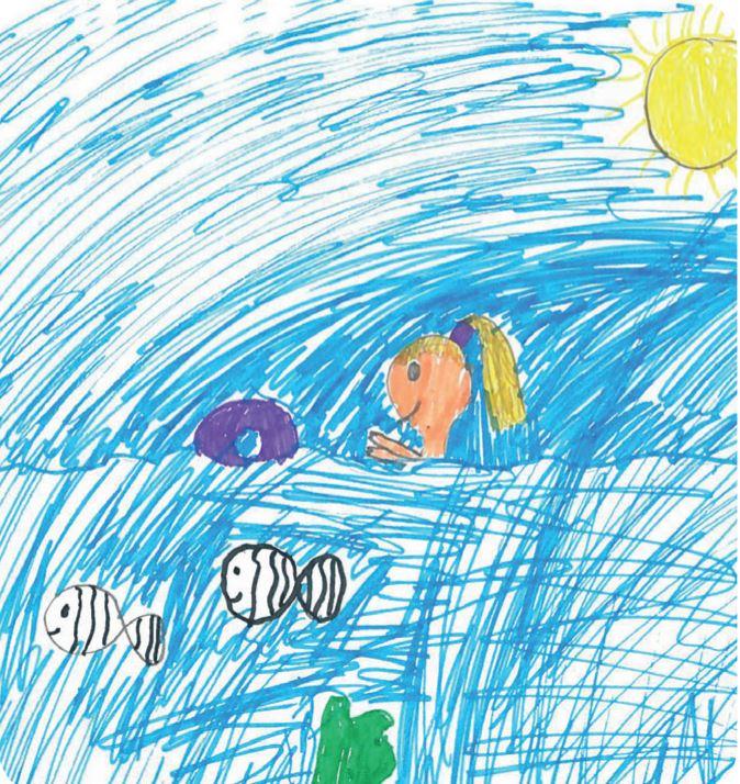 Lapsen piirustus Juva.