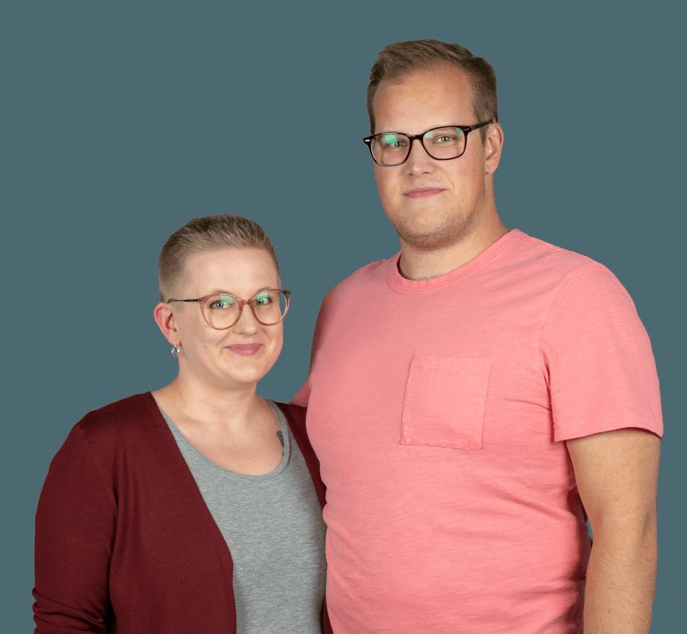 Nea Riikonen ja Janne Tallqvist Mikkeli.