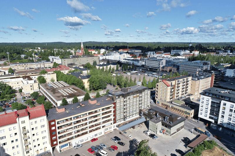 Ilmakuva Mikkelistä. Kuva HuomMikkeli.