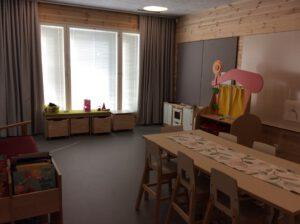 Hirvensalmen uuden päiväkodin huone.