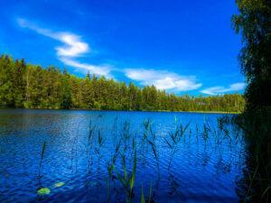 Järvimaisema Pertunmaa. Mikkelin seutu.