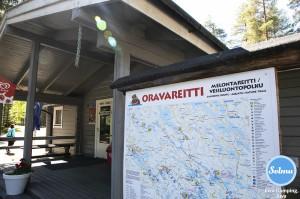 Oravareitin kartta Juva Campingissä.