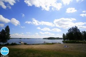 Kangasniemen uimaranta.