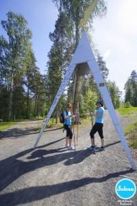 Lähtöportti Mäntyharjusta Repovesireitille.